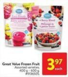Great Value Frozen Fruit