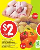 4 Pack Sweet Bell Peppers Product of Ontario 10 Lb Bag Yellow Potatoes Product of Ontario - Canada No. 1