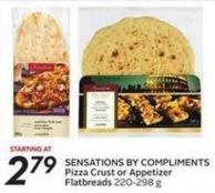 Sensations By Compliments Pizza Crust or Appetizer Flatbreads