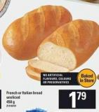 French Or Italian Bread - 450 g