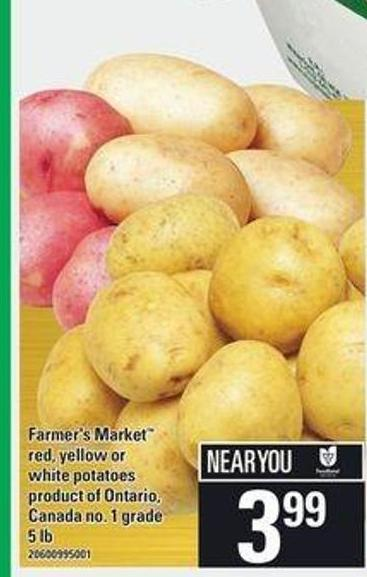 Farmer's Market Red - Yellow Or White Potatoes - 5 Lb