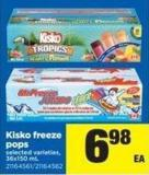 Kisko Freeze Pops - 36x150 mL