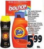 Tide Laundry Detergent - Downy Or Bounce Fabric Softener And Downy Unstopables Scent Booster