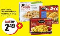 Lean Cuisine - Stouffers or Bistro Crustini 170-340 g