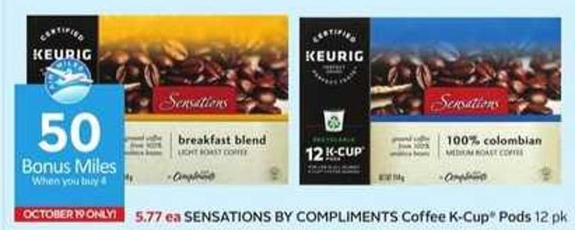 Sensations By Compliments Coffee K-cup Pods - 50 Air Miles Bonus Miles