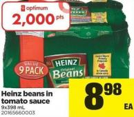 Heinz Beans In Tomato Sauce - 9x398 Ml