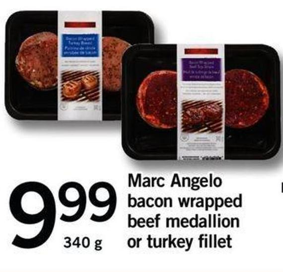 Marc Angelo Bacon Wrapped Beef Medallion Or Turkey Fillet