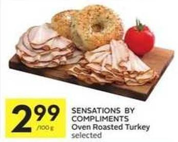 Sensations By Compliments Oven Roasted Turkey Selected