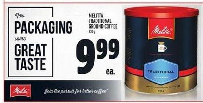 Melitta Traditional Ground Coffee