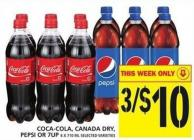 Coca-cola - Canada Dry - Pepsi Or 7up 6