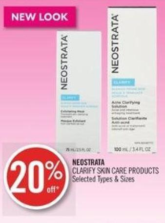 Neostrata Clarify Skin Care Products