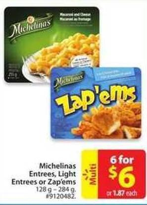 Michelinas Entrees - Light Entrees or Zep'ems