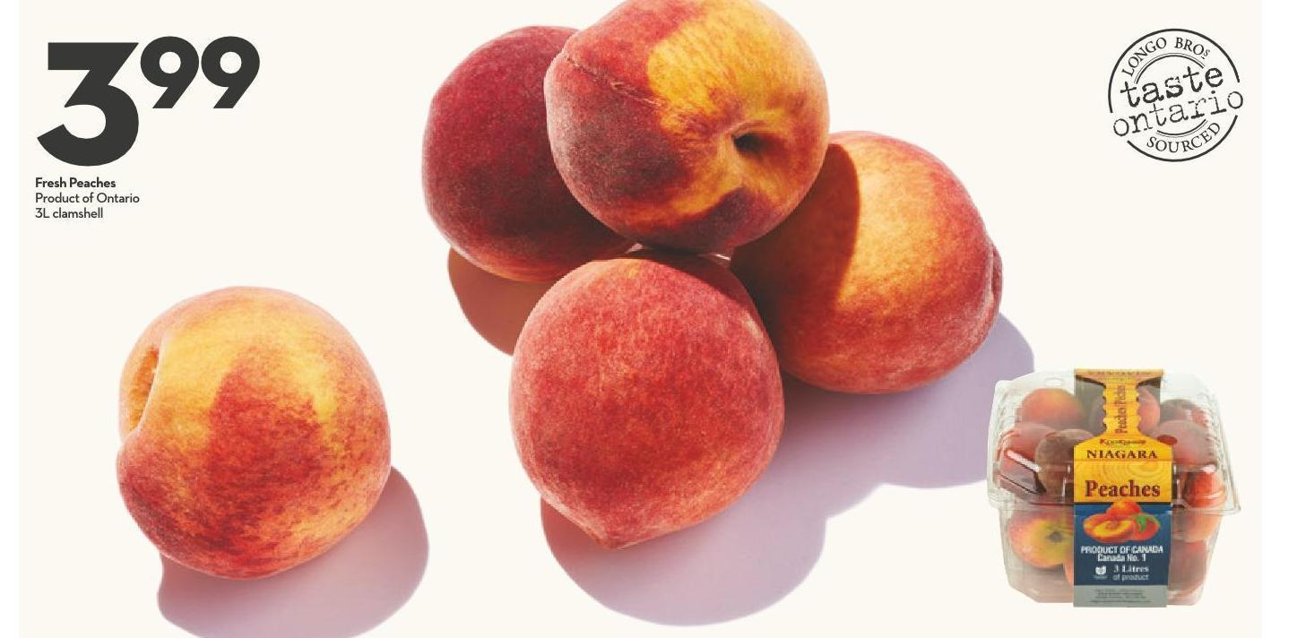 Fresh Peaches Product of Ontario