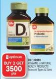 Life Brand Vitamins or Natural Health Products