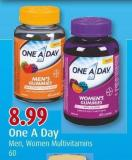 One A Day  Men - Women Multivitamins  60