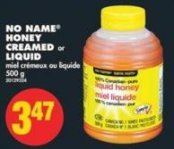 No Name Honey Creamed or Liquid - 500 g
