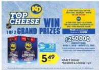 Kraft Dinner Macaroni & Cheese 4 Pk - 20 Air Miles Bonus Miles