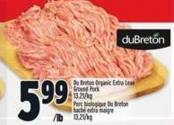Du Breton Organic Extra Lean Ground Pork