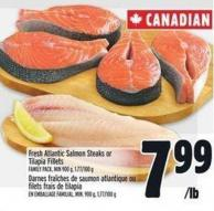 Fresh Atlantic Salmon Steaks Or Tilapia Fillets