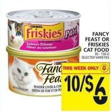 Fancy Feast Or Friskies Cat Food
