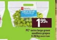 PC Extra Large Green Seedless Grapes