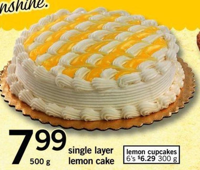 Single Layer Lemon Cake - 500 G