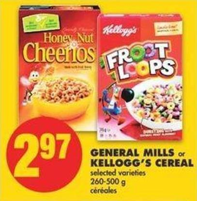 General Mills Or Kellogg's Cereal - 260-500 G