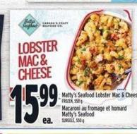 Matty's Seafood Lobster Mac & Cheese