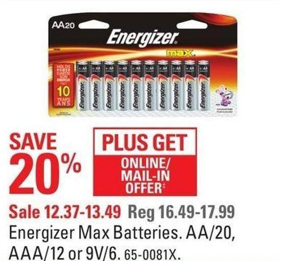 Energizer Max Batteries