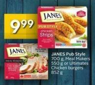 Janes Pub Style 700 g - Meal Makers 550 g or Ultimates Chicken Burgers 852 g