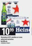 Heineken 0.0% Bottles Or Cans - 6x330 mL