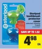 Steripod Toothbrush Protector Cover - 2 Pack