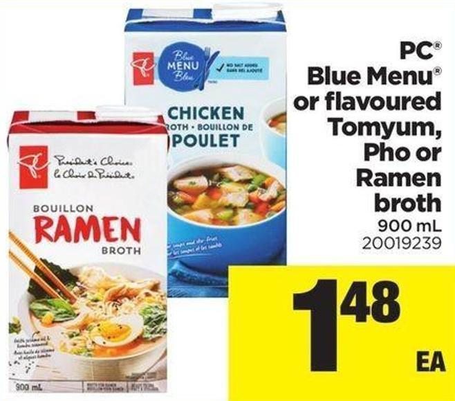 PC Blue Menu Or Flavoured Tomyum - Pho Or Ramen Broth - 900 Ml