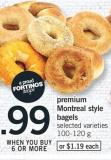 Premium Montreal Style Bagels - 100-120 g