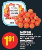 Campari Tomatoes - 454 g or PC Variety Tomatoes - 255 g