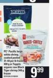 PC Pacific Large White Shrimp - Cooked Peeled - 31-40 Per Lb Frozen - 400 g Or Toppits Organic Raw Black Tiger Shrimp - 340 g