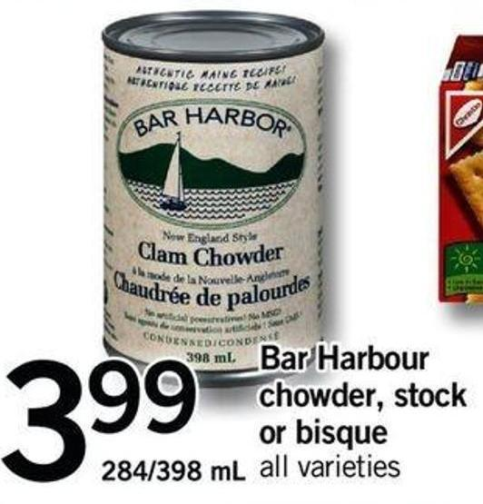 Bar Harbour Chowder - Stock Or Bisque - 284/398 Ml