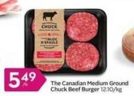 The Canadian Medium Ground Chuck Beef Burger