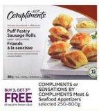 Compliments or Sensations By Compliments Meat & Seafood Appetizers