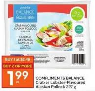 Compliments Balance Crab or Lobster- Flavoured Alaskan Pollock 227 g