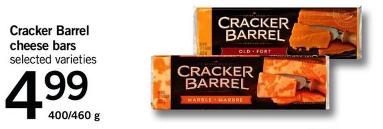Cracker Barrel Cheese Bars - 400/460 g