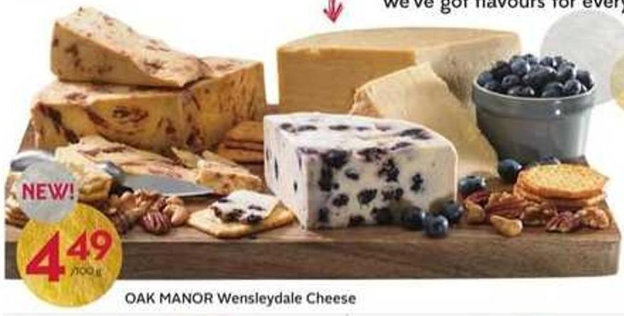 Oak Manor Wensleydale Cheese