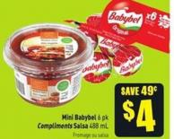 Mini Babybel 6 Pk Compliments Salsa 488 mL