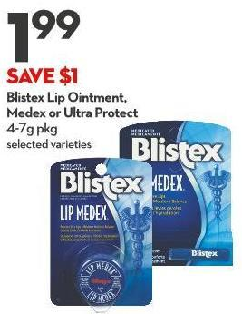 Blistex Lip Ointment - Medex or Ultra Protect 4-7g Pkg