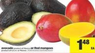 Avocado Or Red Mangoes