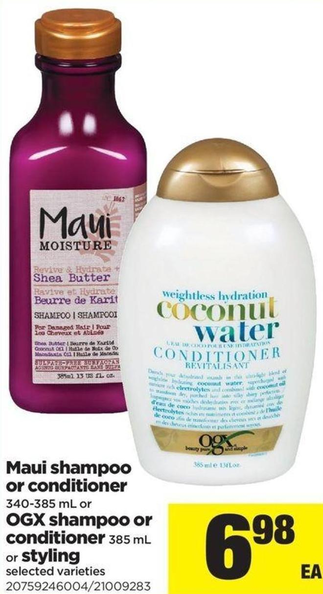Maui Shampoo Or Conditioner - 340-385 Ml Or Ogx Shampoo Or Conditioner - 385 Ml Or Styling