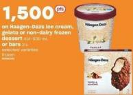Haagen-dazs Ice Cream - Gelato Or Non-dairy Frozen Dessert 414-500 Ml Or Bars 3's