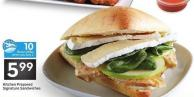Kitchen Prepared Signature Sandwiches - 10 Air Miles Bonus Miles