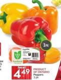 Peppers 3 Pk Product Of Ontario