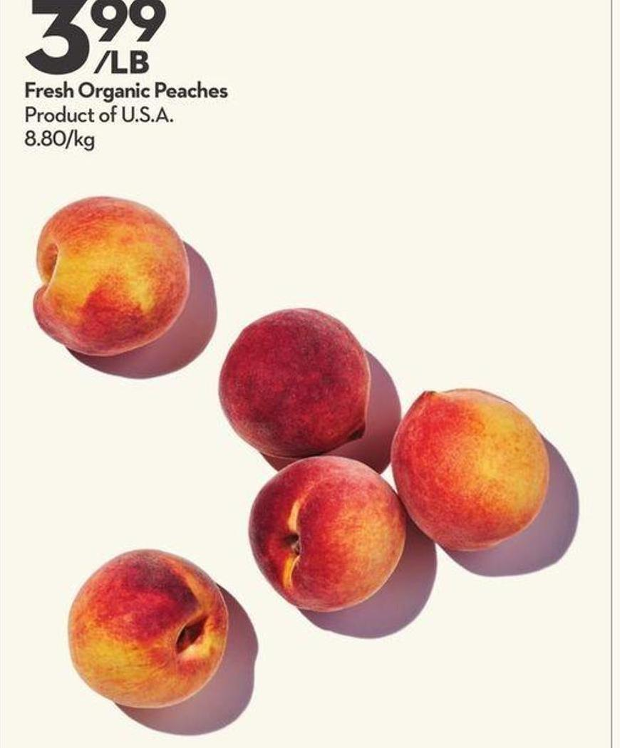 Fresh Organic Peaches
